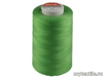 Нитки 00204 зеленый полиэстер - 100% Китай