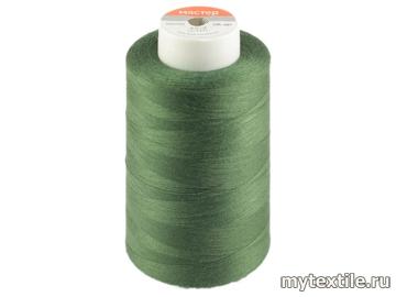 Нитки 00221 зеленый полиэстер - 100% Китай