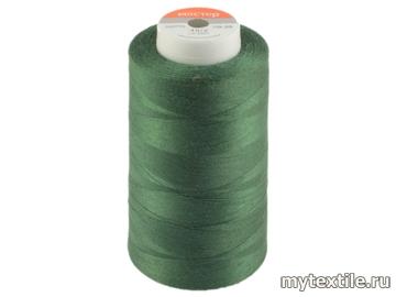 Нитки 00225 зеленый полиэстер - 100% Китай