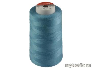 Нитки 00256 голубой полиэстер - 100% Китай