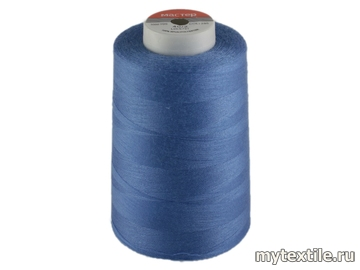 Нитки 00285 синий полиэстер - 100% Китай