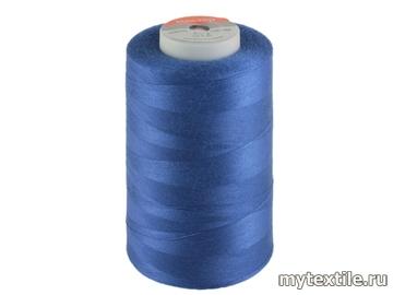 Нитки 00289 синий, васильковый полиэстер - 100% Китай