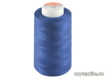 Нитки 00319 синий, васильковый полиэстер - 100% Китай