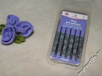 Иглы для джинсы 90  модель 0220-01 130/705 Н SPI № 3   Россия