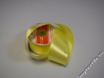 "Атласная лента al-020 ""Желтая"" 03   Китай"